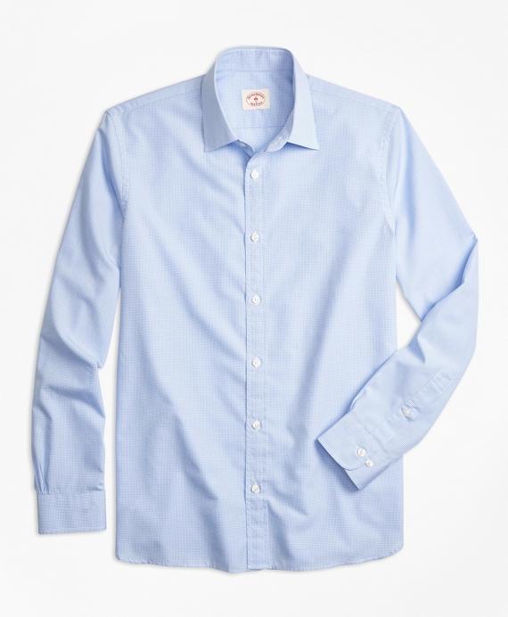 Nine-to-Nine Micro-Gingham Shirt Blue