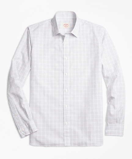Windowpane Cotton Poplin Nine-to-Nine Shirt