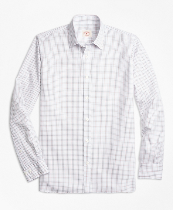 Windowpane Cotton Poplin Nine-to-Nine Shirt Multi