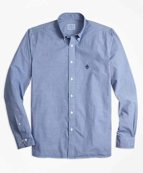Garment-Dyed End-On-End Broadcloth Sport Shirt Blue
