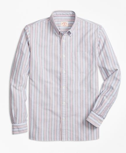 Yarn-Dyed Stripe Oxford Sport Shirt