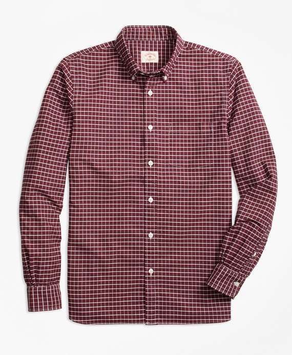Yarn-Dyed Windowpane Oxford Sport Shirt
