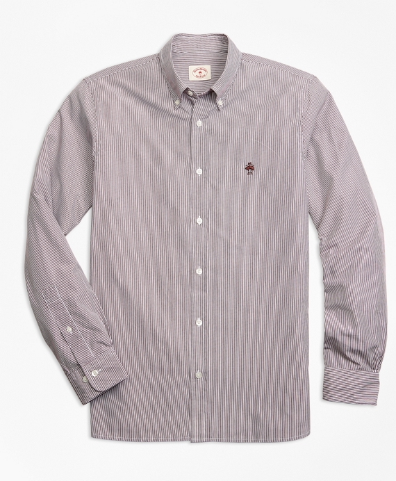Yarn-Dyed Stripe Cotton Poplin Sport Shirt