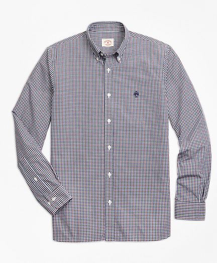 Yarn-Dyed Gingham Cotton Poplin Sport Shirt