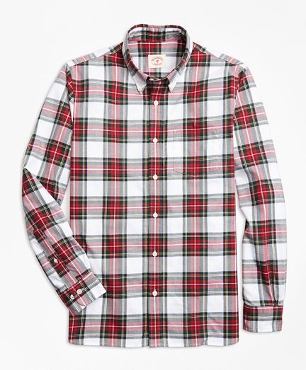 Stewart Tartan Cotton Flannel Sport Shirt