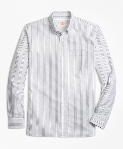 Stripe Supima® Cotton Oxford Sport Shirt