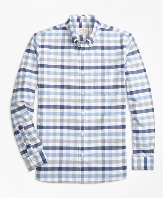 Checked Supima® Cotton Oxford Sport Shirt