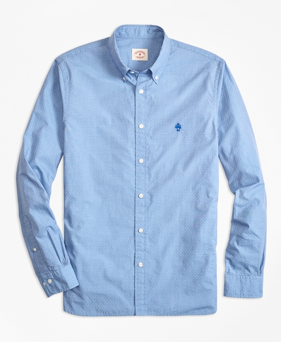 Dotted Broadcloth Sport Shirt