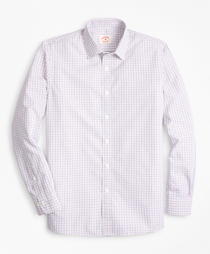 Windowpane Nine-to-Nine Cotton Poplin Shirt