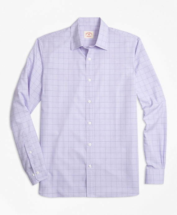 Glen Plaid Nine-to-Nine Cotton Poplin Shirt