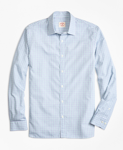 Check Nine-to-Nine Cotton Poplin Shirt