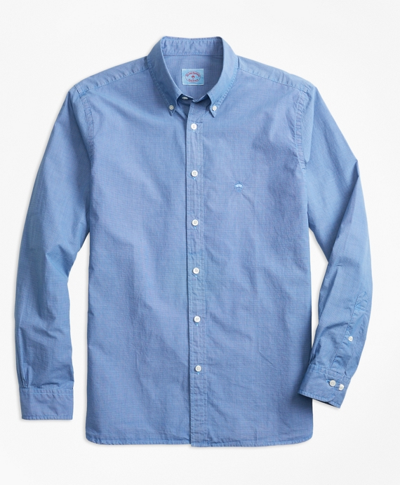 Micro-Gingham End-On-End Broadcloth Sport Shirt