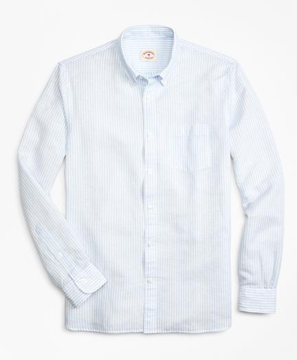Striped Linen-Blend Sport Shirt