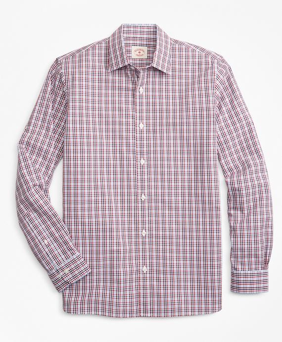 Gingham Nine-to-Nine Cotton Poplin Shirt Red