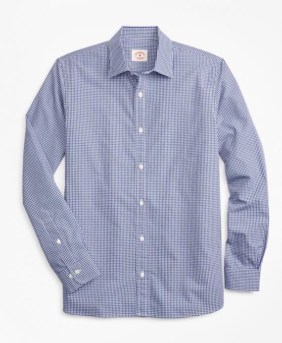 Gingham Nine-to-Nine Cotton Dobby Shirt Blue