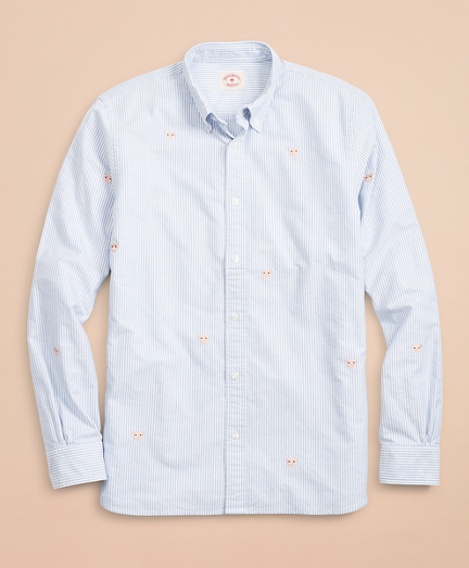 Year of the Pig Striped Oxford Sport Shirt