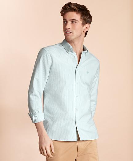 Striped Cotton Oxford Sport Shirt