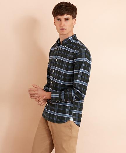 Plaid Cotton Oxford Sport Shirt