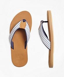 Stripe Seersucker Flip Flops