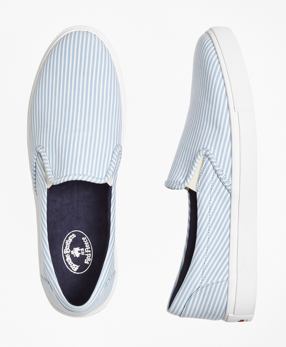 Seersucker Slip-On Sneakers