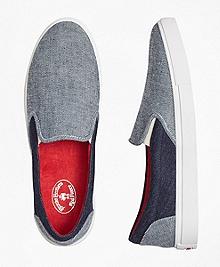 Denim Patchwork Slip-On Sneakers