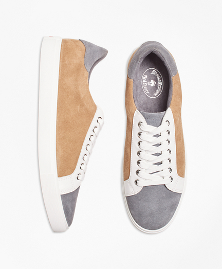 Color-Block Suede Sneakers