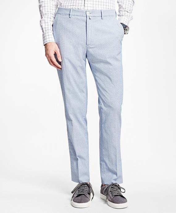 Check Dress Trousers Blue