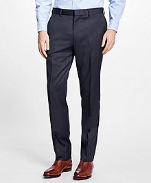 Slim-Fit Checkered Stretch-Wool Trousers