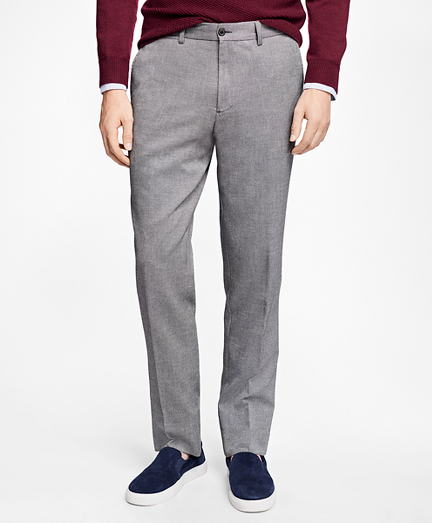 Slim-Fit Crowsfoot Cotton Dobby Trousers