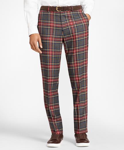 Tartan Wool Twill Trousers