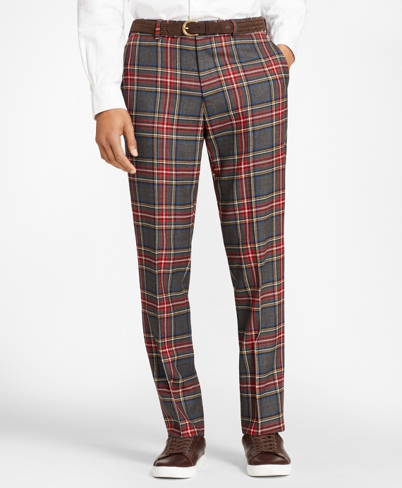 Tartan Wool Twill Trousers