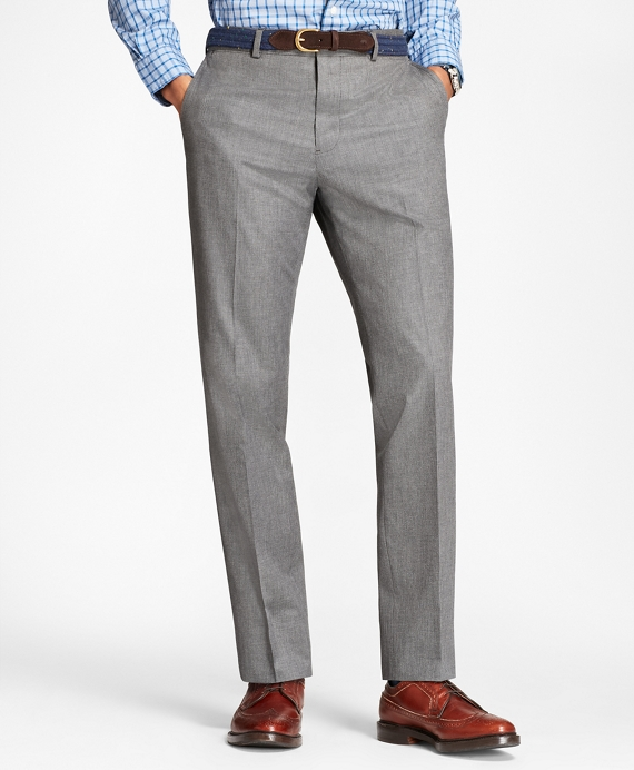 Neat Cotton Trousers Grey