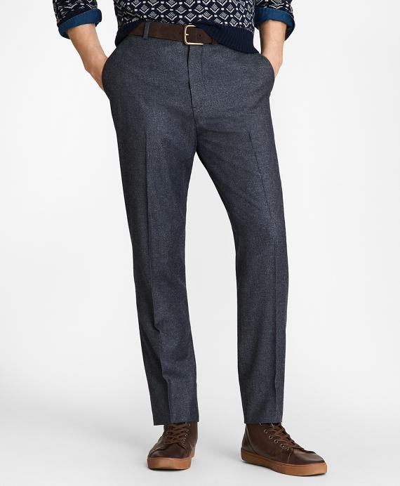 Wool Twill Trousers Blue