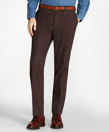 Herringbone Cotton Trousers