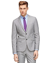 Grey Sharkskin Suit Jacket