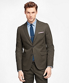 Olive Twill Suit Jacket