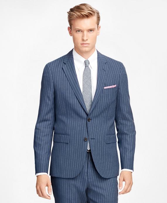 Wide Stripe Suit Jacket Blue
