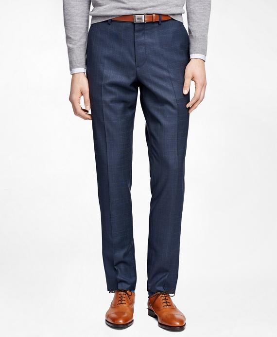 Plaid Suit Trousers Blue