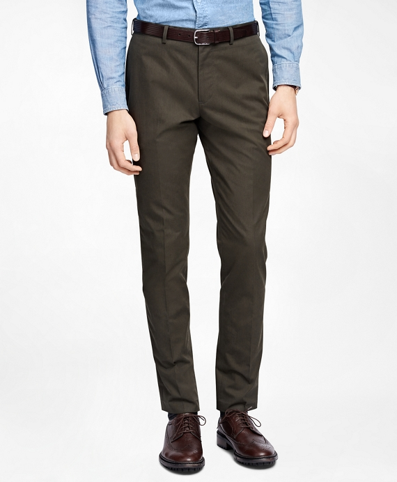 Olive Twill Suit Trousers