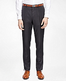 Alternating Stripe Suit Trousers