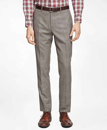 Plaid with Deco Suit Trousers