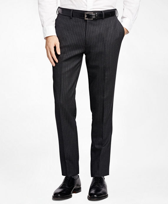 Chalk Stripe Suit Trousers Charcoal