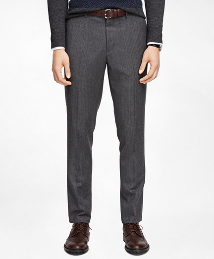 Herringbone Suit Trousers