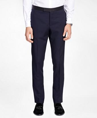 Plain-Front Tuxedo Trousers