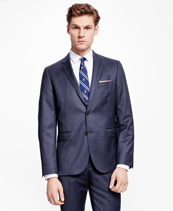 Pinstripe Suit Jacket Navy