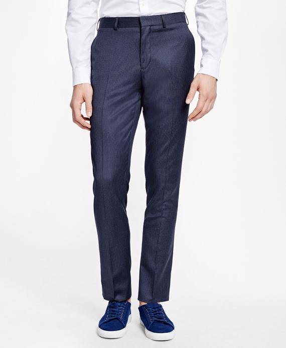 Pinstripe Suit Trousers Navy