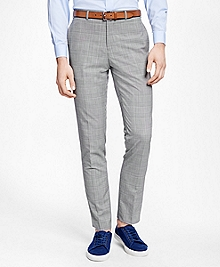 Black and White Plaid Suit Trousers