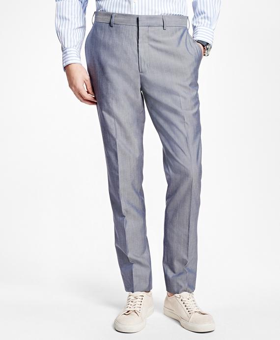 Plain-Front Suit Trousers