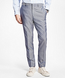 Plain-Front Suit Trousers