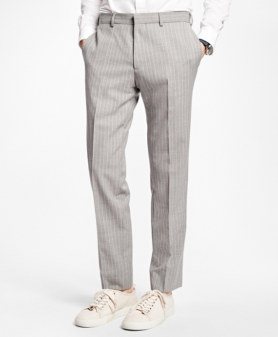 Pinstripe Suit Trousers Grey